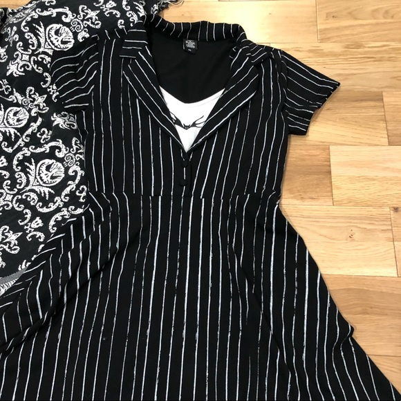 Hot Topic Nightmare Before Christmas Dress.Nightmare Before Christmas Jack Skellington Dress